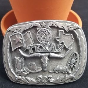 Texas Longhorn Bull Steer Belt Buckle